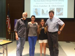 At the author reading for YA Conference at LSU!