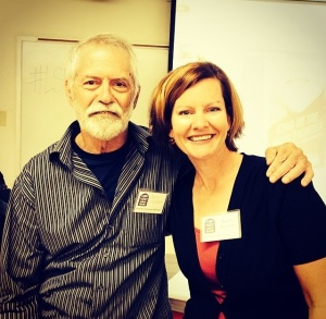 Martha at the LSU Lit. Conference with Chris Crutcher