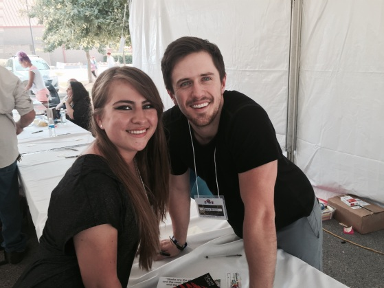 Isabel and Pierce Brown, author of RED RISING series.