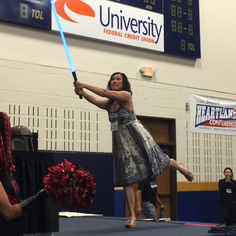 Cindy Pon: Lightsaber Pose Duel at the Star Wars Throwdown