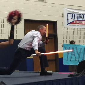 Gareth Hinds: Lightsaber Pose Duel at the Star Wars Throwdown