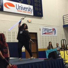 Sophie Jordan: Lightsaber Pose Duel at the Star Wars Throwdown