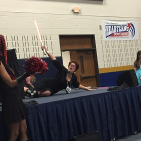 Claudia Gray: Lightsaber Pose Duel at the Star Wars Throwdown