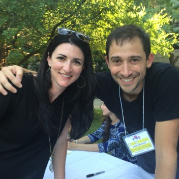 Carrie and Jesse Andrews, author of ME AND EARL AND THE DYING GIRL.