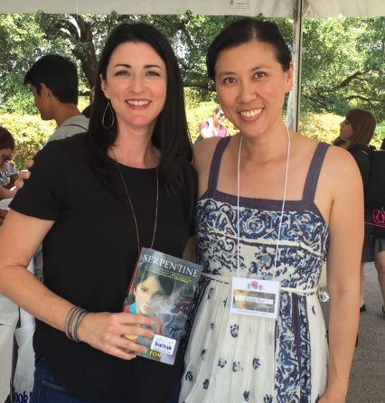 Meeting Cindy at the Texas Teen Book Festival.