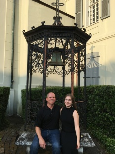 Dad and I outside the Ursuline Convent